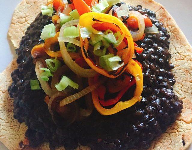 BBQ Lentil Open Face Taco